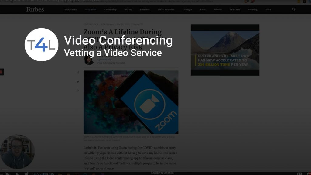 Title Card for Vetting a Video Conferencing Provider