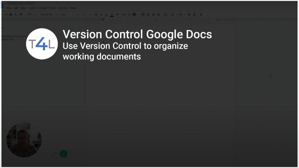 Version Control video title card