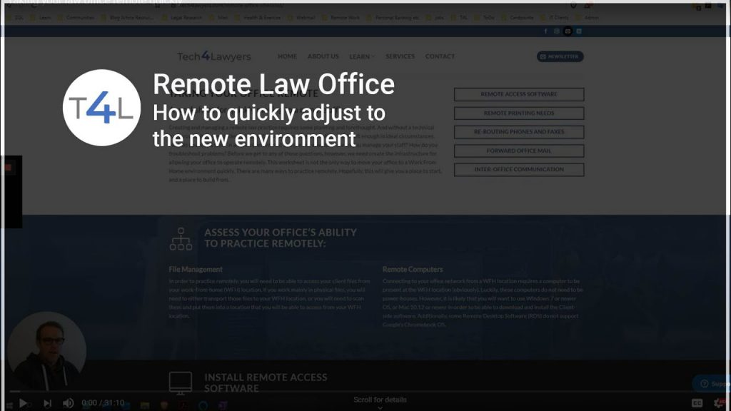 Video on Remote Law Offices